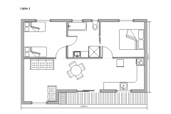 Floor Plan Cabin 1