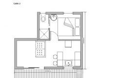 Floor Plan Cabin 2
