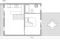 Floor Plan Cabin 3